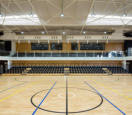 Campbelltown Leisure Centre - The Arc Court with Stadium Seating