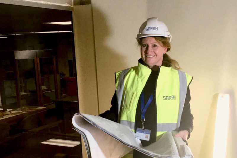 Jayne Fitzpatrick Onsite For Sarah Constructions