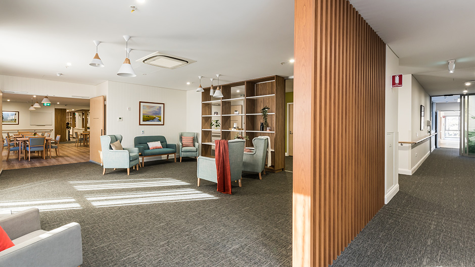 Resthaven Aberfoyle Park Aged Care Hall and Lounge Area