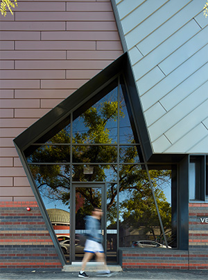 External Facade mixed materials at St Mary's College West Terrace