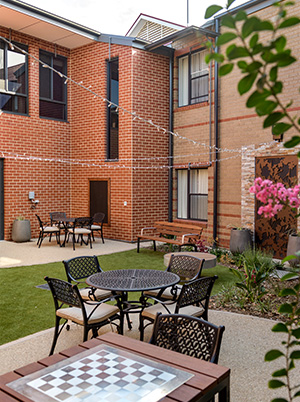 Courtyard at Resthaven Murray Bridge