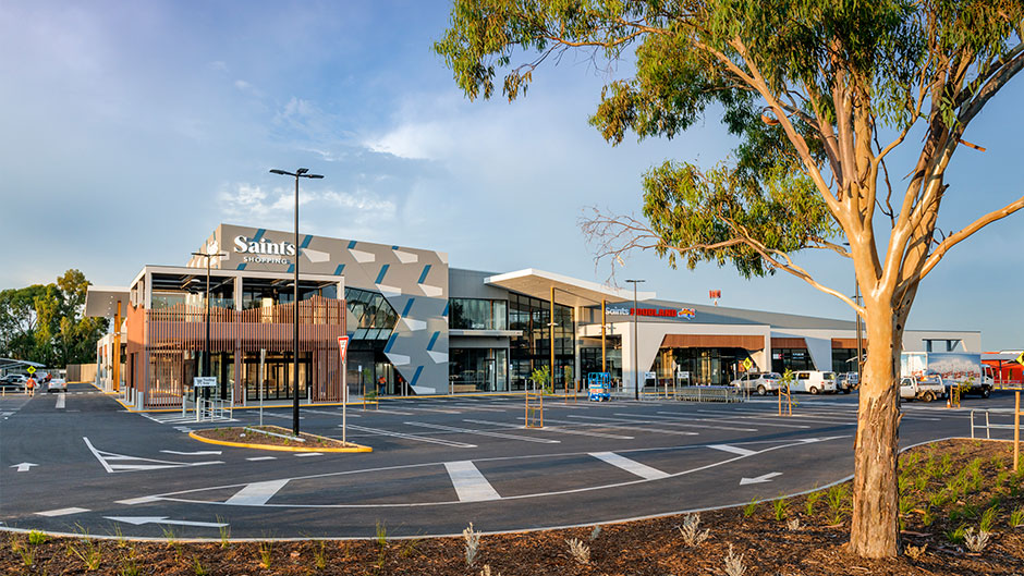 Saints Road Shopping Centre Exterior and Carpark