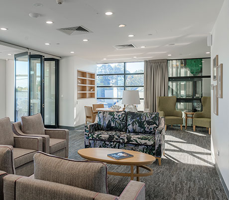 Lounge area at St Basil's Homes St Peters