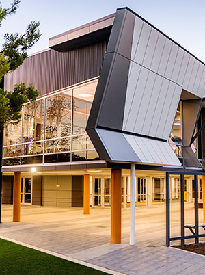 Faith lutheran college east wing facade detail