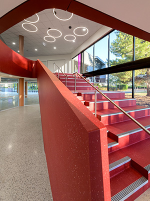 Faith lutheran college east wing feature staircase