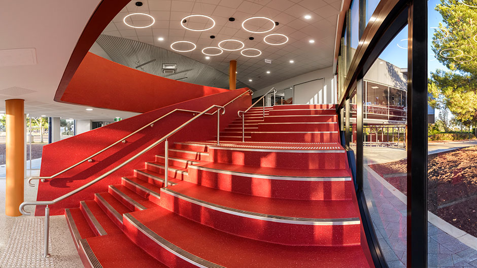 Feature Staircase at Faith Lutheran College East Wing
