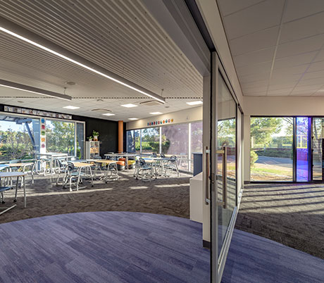 Interior at faith lutheran college east wing