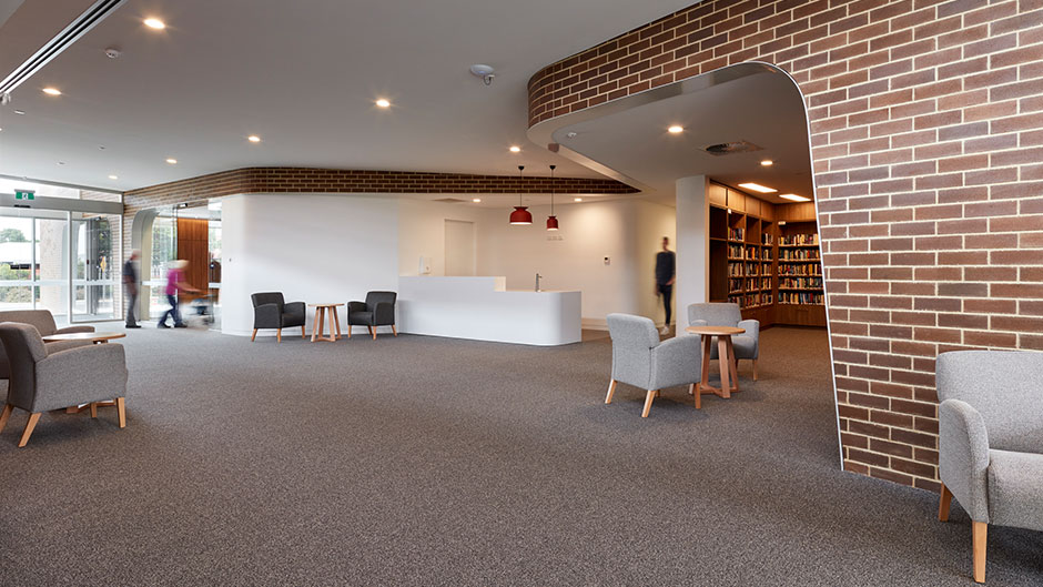 LHI Community Centre Interior brick integration