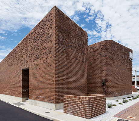 LHI Community Centre Brick Facade Detail