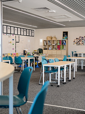 Interior Classroom at St Marys Memorial School