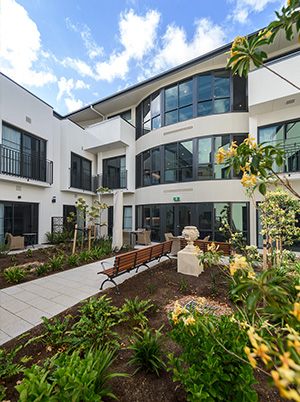 Courtyard at Allity Aged Care
