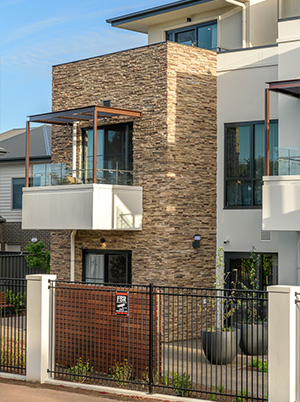 Exterior detail at Allity Aged Care