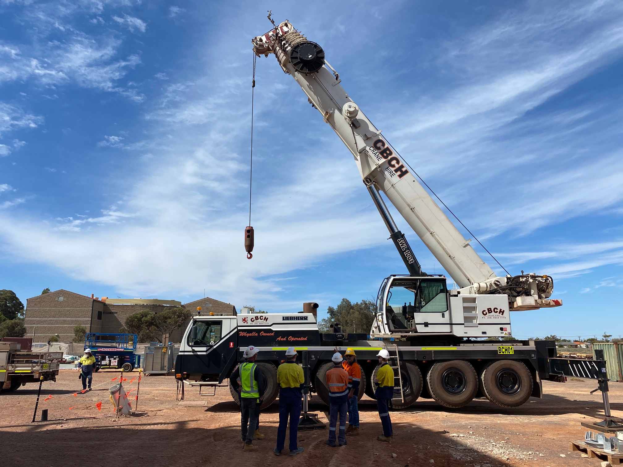 Whyalla Secondary School work experience students on site